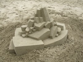 Geometric Sand Castle Nine wallpapers and stock photos