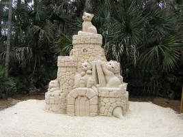 Cat Sand Castle wallpapers and stock photos