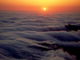 Random: Sunset & Sea Of Clouds