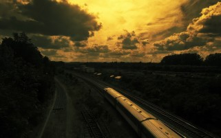 Rail Road Train & Landscape wallpapers and stock photos