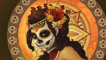 Dia de Muertos Painting wallpapers and stock photos