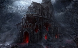 Scary Church wallpapers and stock photos