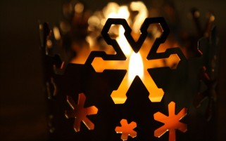 Winter Candles wallpapers and stock photos
