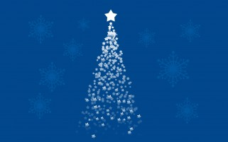 Blue Stars Christmas Tree wallpapers and stock photos