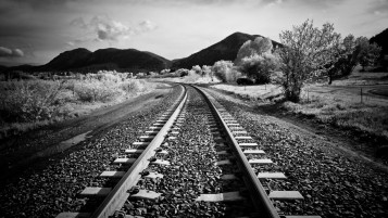 Random: Rail Road Black & White