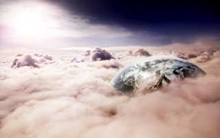 Pink Cloud Sea & Planet wallpapers and stock photos