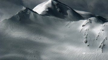 Alpine Heliskiing Tracks wallpapers and stock photos