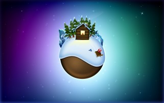 Earth on Christmas wallpapers and stock photos