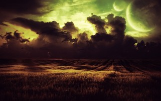 Planets Himmel dunkle Wolken Feld wallpapers and stock photos