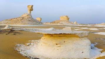 Egypt White Desert Oasis wallpapers and stock photos