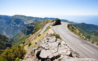 Mountains Turn Rocks Roads wallpapers and stock photos