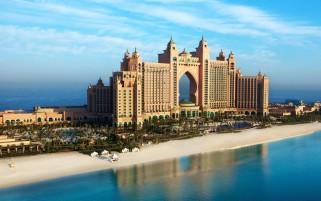 Palm Jumeirah Dubai Atlantis wallpapers and stock photos