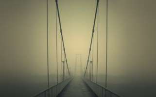 Bridge on Fog wallpapers and stock photos