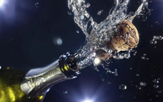 New Year Champagne wallpapers and stock photos