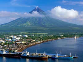 Volcán Mayon de Filipinas wallpapers and stock photos