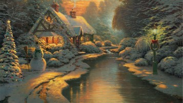 Christmas Cottage wallpapers and stock photos