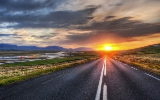 Random: Road Scenery Horizon & Sunset