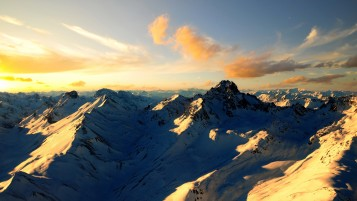 Snow Mountains & Sky wallpapers and stock photos