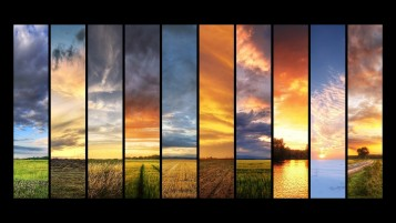 Sunset Collage wallpapers and stock photos