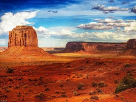 Canyon Desert & Cloudy Sky wallpapers and stock photos