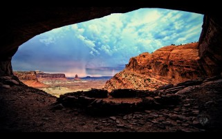 Desert Cave wallpapers and stock photos