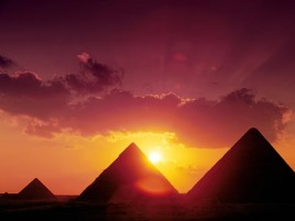 Great Pyramids Of Giza Sunset wallpapers and stock photos