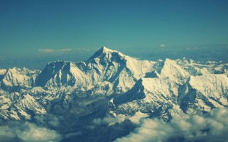 Mount Everest Nepal Teal wallpapers and stock photos