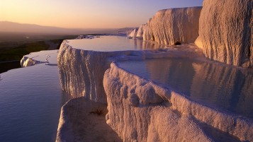 Pamukkale Water Terrace Turkey wallpapers and stock photos