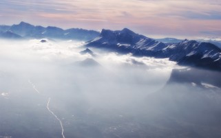 Random: Mountains Clouds Fog Aerial