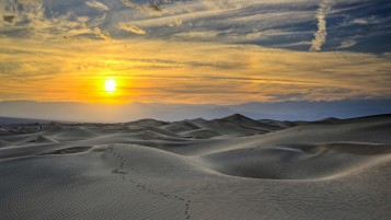 Sunset Grayscale Desert Hills wallpapers and stock photos