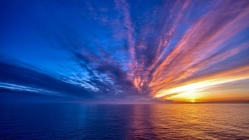 Colorful Sunset & Ocean wallpapers and stock photos