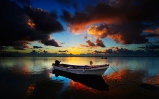 Sunset Clouds Sea Ship & Océano wallpapers and stock photos