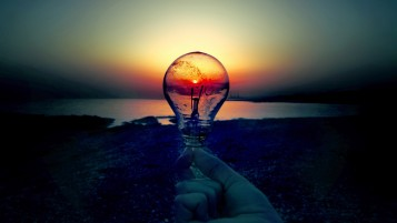 Sunset Bulb Darkness wallpapers and stock photos