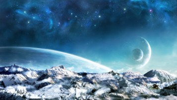 Schneeberge Planeten & Sterne wallpapers and stock photos