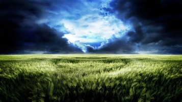 Thunder Storm Clouds & Field wallpapers and stock photos