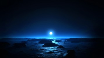 Full Moon Ocean & Rocks wallpapers and stock photos