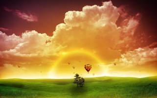 Colorful Sky Air Ballons Natur wallpapers and stock photos
