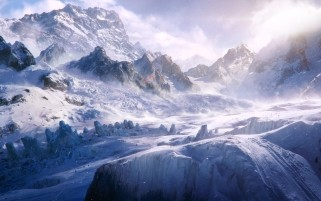 Random: Ice Mountains & Fog