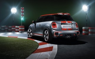 2014 Mini John Cooper Works Concepto estático ángulo trasero wallpapers and stock photos