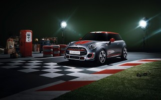 2014 Mini John Cooper Works Concepto estático ángulo frontal wallpapers and stock photos