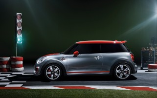 2014 Mini John Cooper Works Concepto estático Side wallpapers and stock photos