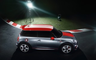 2014 Mini John Cooper Works Konzept Static Top Side Angle wallpapers and stock photos