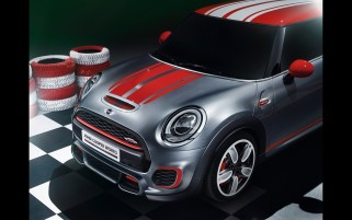 2014 Mini John Cooper Works Konzept Static Hood Abschnitt wallpapers and stock photos