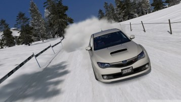 Subaru Impreza STI Schnee wallpapers and stock photos