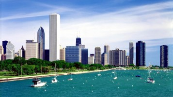 Michigan Lake Chicago wallpapers and stock photos