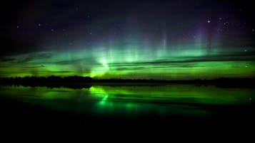 Random: Light Green Aurora Borealis