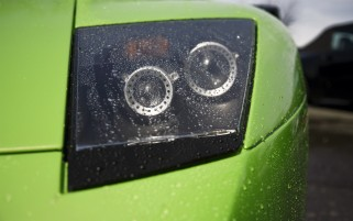 Random: Green Lamborghini Headlight