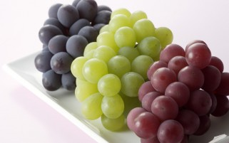 Grapes on White Background wallpapers and stock photos