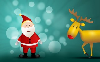 Santa Claus and Reindeer wallpapers and stock photos