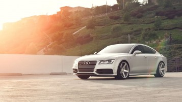 Audi A7 Front Angle wallpapers and stock photos